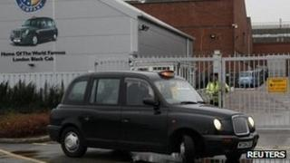 Taxi at the factory in Coventry
