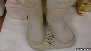 Jimmy Cricket's concrete wellington boots