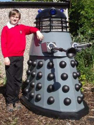 Gage Brumby with the Dalek