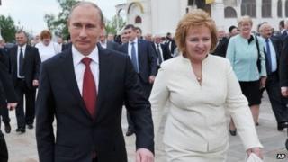 Russian President Vladimir Putin and his wife Lyudmila
