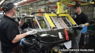 Nissan car plant engineers
