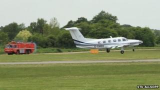 Emergency landing at London Oxford Airport