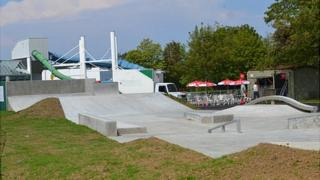 Guernsey skate park at Beau Sejour Leisure Centre