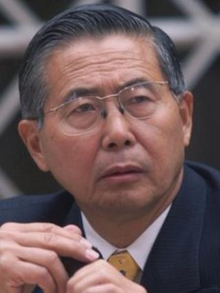 Peru's ex President Alberto Fujimori