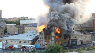 Mill on fire