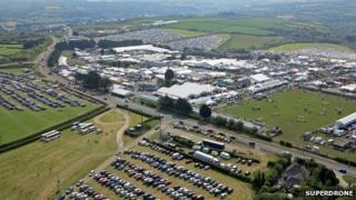 Showground from air