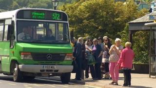Bus in Boscastle