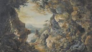 JMW Turner watercolour of Avon Gorge
