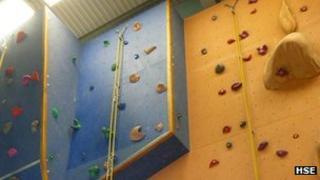Manningtree High School climbing wall