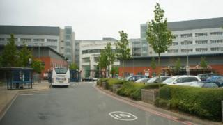 University Hospital Coventry is on the route