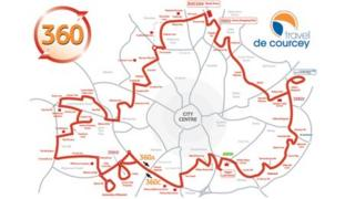 The 360 bus route graphic