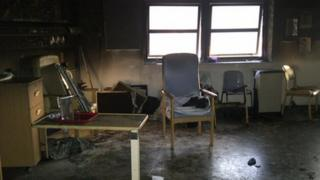 Ward 4 at Stoke Mandeville Hospital affected by fire