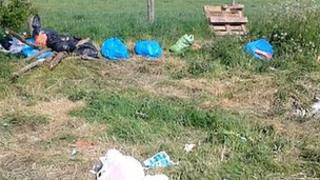 Rubbish at Appleby Horse Fair