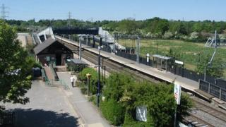 Tile Hill Station, photograph by E Gammie