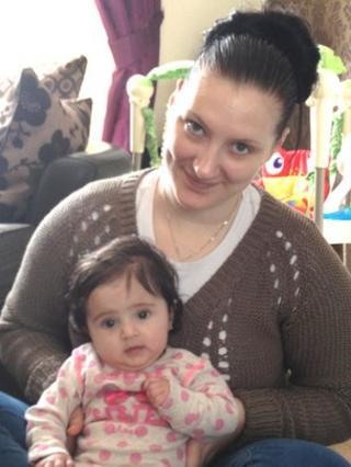 Sarah Sharma and second daughter Asha