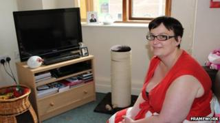 Amanda Orford in her home