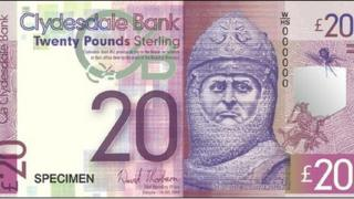 Robert the Bruce on bank note