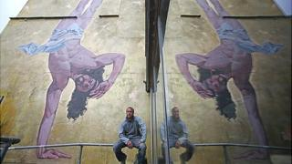 Breakdancing Jesus mural in Bristol