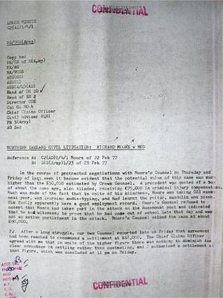 The details were found in declassified Ministry of Defence papers