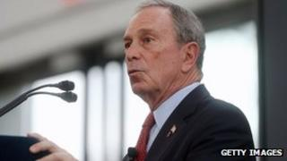 New York Mayor Michael Bloomberg announces storm protection plan in New York, 11 June 2013