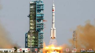 China's latest space mission blasted off from the Jiuquan base in Inner Mongolia