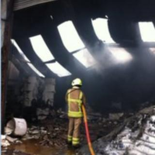 Factory fire in Thurmaston industrial plant