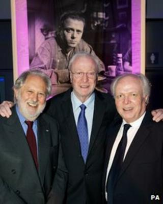 Lord Puttnam, Sir Michael Caine and Michael Attenborough at the Entirely Up To You, Darling gala
