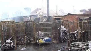Fire at Faversham Linen Services