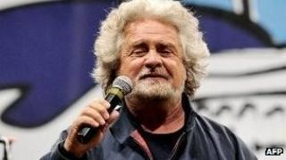 Beppe Grillo on campaign trail