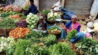A Bangalore street market