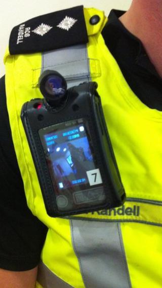 One of the new body cameras