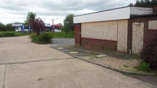 Abandoned restaurant site off the A46 in Warwickshire
