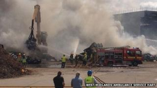 Fire at yard in Smethwick