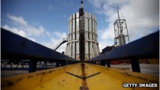 Cuadrilla's shale fracking facility in Preston, Lancashire.