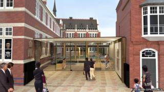 Artist impression of the visitor centre