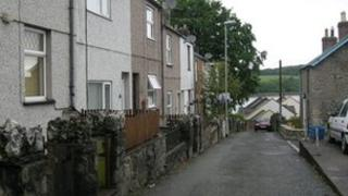Street in Y Felinheli where the party was held