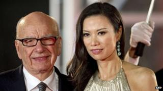 Rupert Murdoch and Wendi Deng at the Shanghai Film Festival in 2011