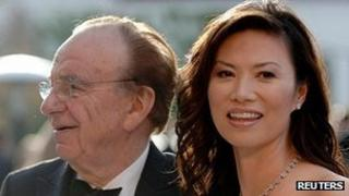 Rupert Murdoch and his wife Wendi Deng