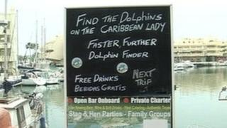 Caribbean Lady sign in Benalmadena