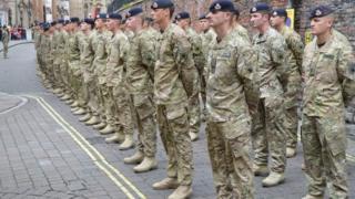Queen's Royal Lancers in Nottingham