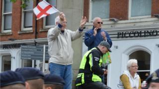 Crowds cheer Royal Lancers