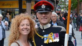 Sarah Lewin and her brother Staff Sgt Carl Lewin