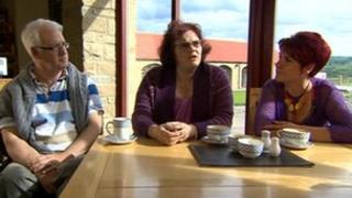 UKIP members Tony Flinn, Claire Palmer and Stephanie Todd