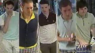 Police have issued CCTV images of the men they want to question