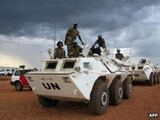 UN peacekeepers in Abyei town (2008)