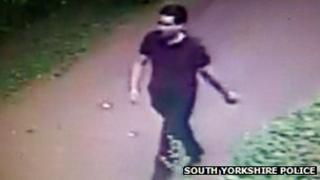 A CCTV image of a man in Doncaster released by South Yorkshire Police