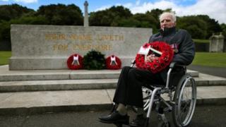 Phil Farrington at the memorial