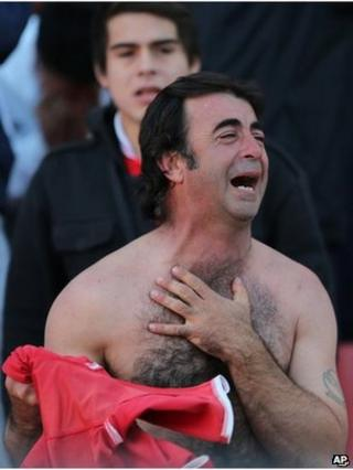 Independiente fan crying