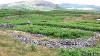 Heathwaite medieval settlement in the Duddon Valley