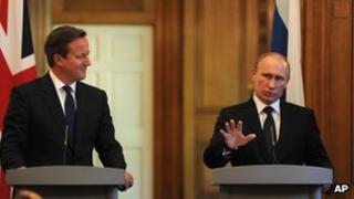 David Cameron an Vladimir Putin
